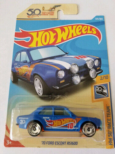 Hot Wheels 2018 Hw 50th Race Team 2//10 Best Price /'70 Ford Escort RS1600