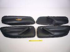 MK4 VW JETTA GOLF GLS GL 99.5 TO 05 BLACK DOOR LEATHER INSERTS FRONT BACK SET