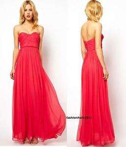 Details About Rare Mango Pink Red Maxi Dress Silk Exclusive Wedding Medium M Uk10 Usa S