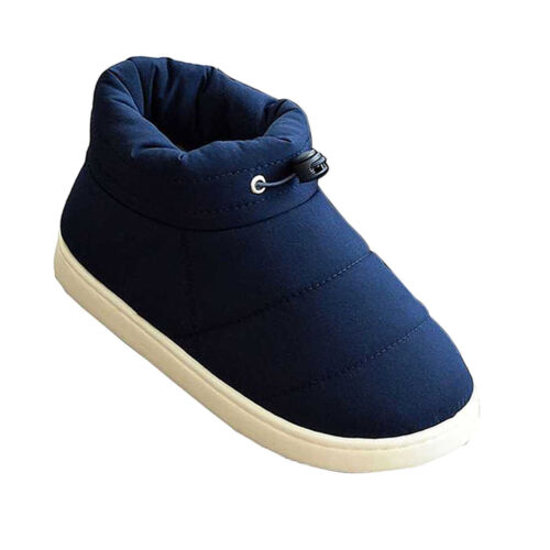 Winter Cotton Slippers Shoes for Men Women Camping Home Feet Warmer Booties