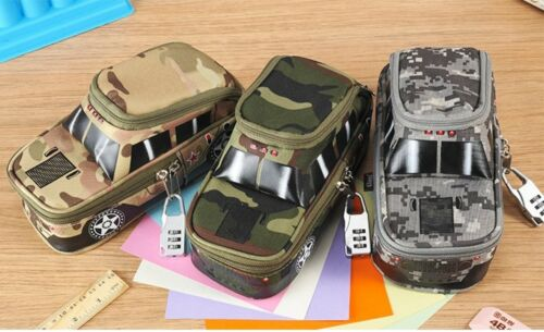 1pc Oxford Cool Camouflage Car Jeep Style large Pencil Case Pouch Bag Pen Holder