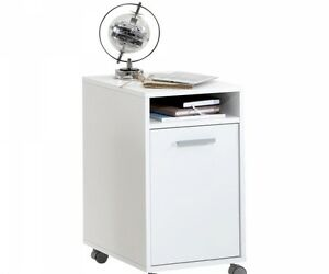 Rollcontainer Bürocontainer Druckerwagen Beistellkommode Nachtkommode WIEK weiß Büro-Kleinmöbel & -Accessoires Büro Rollcontainer