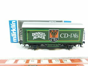 BC640-0-5-Marklin-H0-AC-4436-Bierwagen-Wagon-de-marchandises-Dinkelacker-DB-W