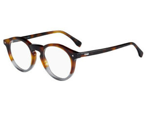 NEW-Fendi-FF0236-AB821-48mm-Havana-Grey-Optical-Eyeglasses-Frames