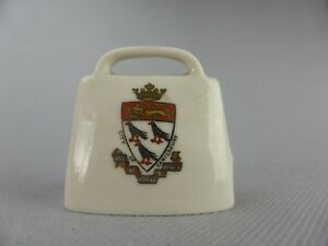 W.h. Goss City Of Canterbury Model Of Old Swiss Cow Bell Porcelaine Anglaise Mwfiob92-07222217-817714829