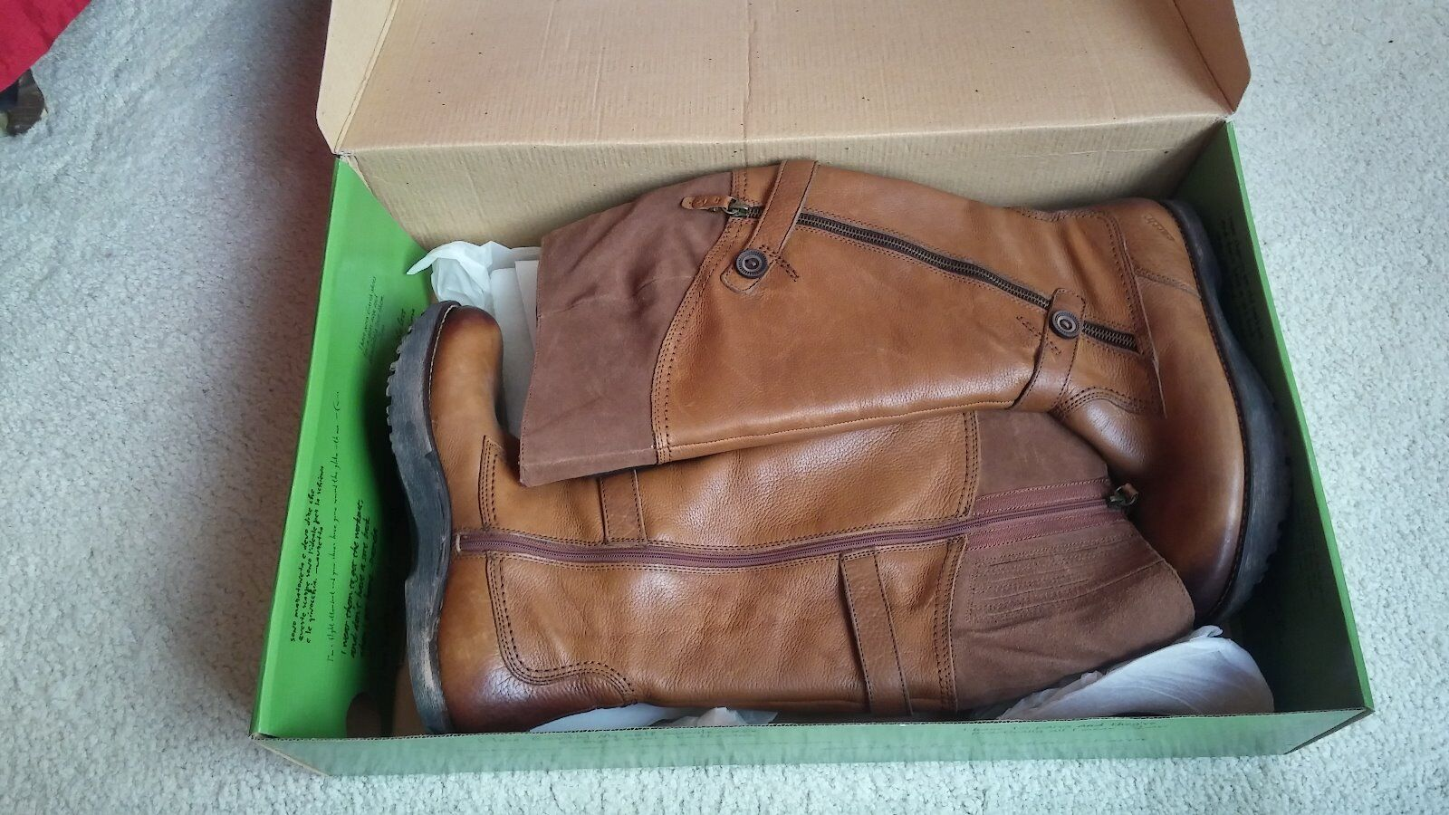 Earth Donna boots new from size 9.5 amond leather from new nordstrom 8012a0