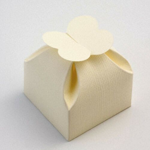 Box Only SILK IVORY CREAM Range Luxury DIY Wedding Party Favour Gift Boxes