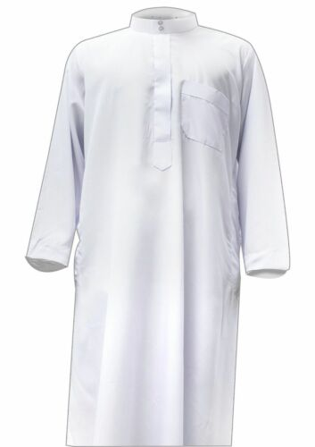Brand New Collared Thobe Arab Saudi Jubba dhaffahn Boys Jubbah Islamic clothing