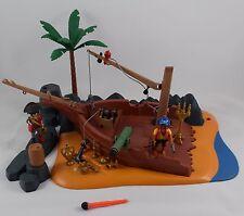 Playmobil bateau pirate échoué set 4136