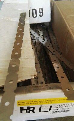20 Stück Mauerverbinder 300x0,5 Mm Flachanker Wandanker Maueranker