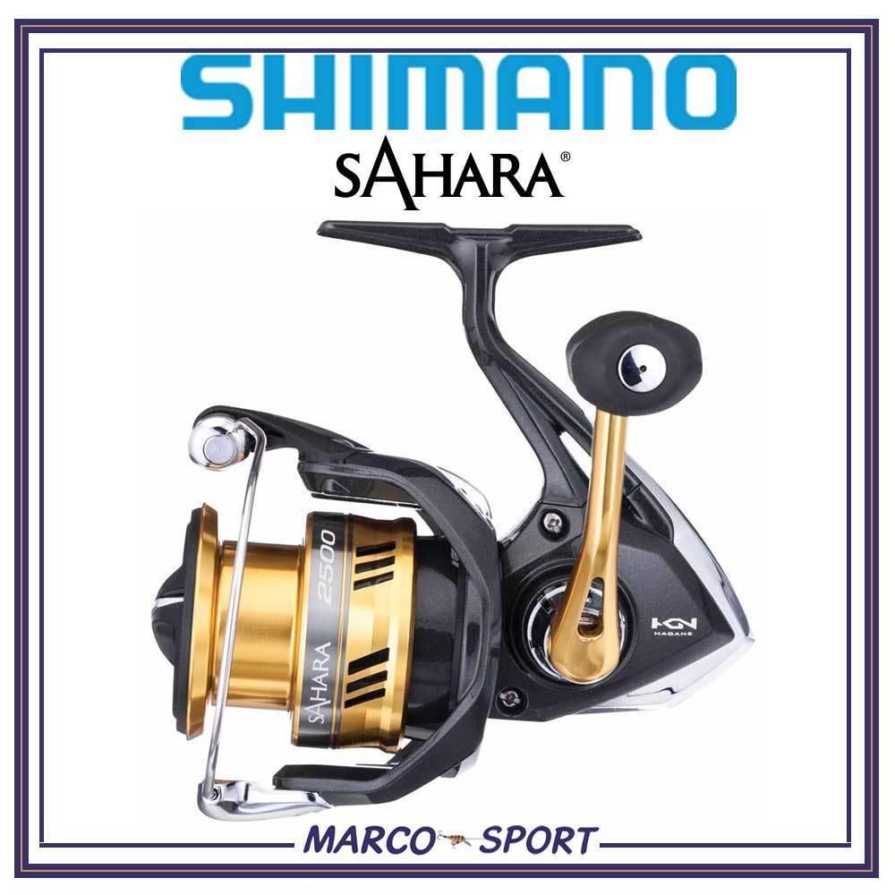 Mulinello da pesca Shimano Sahara 2000 2500 3000 4000 5000 spinning mare trossoa
