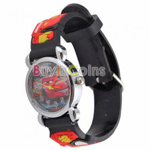 Pixar Car  Kids Children Leather Wrist Watch Gift For Disney Mouse Watch HFAU