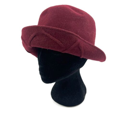 Navy Blue Velour Velvet Bucket Hat Made In Italy Wool Cloche Unique Versatile Unisex Women/'s Fashion Fashionista Casual Personalize