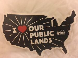 New Rei Co Op I Heart Our Public Lands Sticker Love Usa