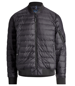 Polo-Ralph-Lauren-Quilted-Down-Bomber-Jacket-Packable-Black-Bomber-Puffer-Coat