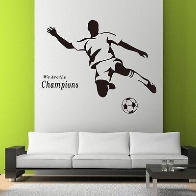 Champions Football Living Room Sofa Waterproof Pvc Diy Mural Decal Wall Sticker