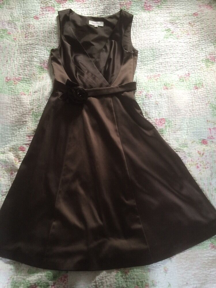 Beautiful PEPPERBERRY Party  Evening Dress-size 8 Curvy. Chocolate Brown. VGC