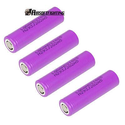 4X HIGH DRAIN LG HD2 18650 2000mAh 3.7V Rechargeable Lithium Battery Li-ion