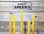 12-6/' 100/% PURE BEESWAX TAPER CANDLES NO ADDITIVES