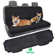 Dog Seat Cover Waterproof Hammock w/ Odorless Heavy Duty Rubber Floor Mat