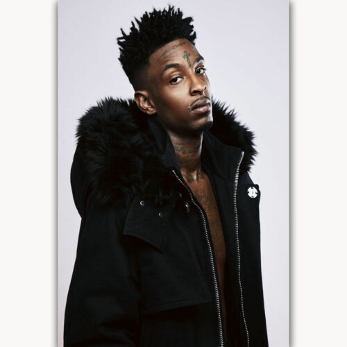 1179D New New 21 Savage Custom Rapper Music Singer-Print Art Silk Poster