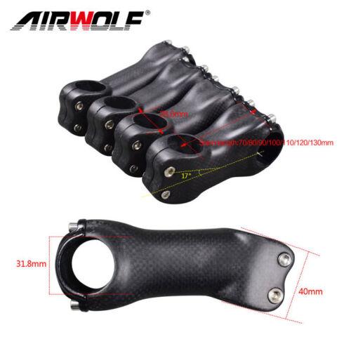 AIRWOLF Carbon Fahrrad Vorbau 1 1//8 Lenkergabel Vorbau 6°//17° 31.8*70-130mm Stem
