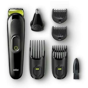 Braun-6-in-1-Men-039-s-Beard-Trimmer-amp-Hair-Clipper-Shaver-Styling-Kit-Set-MGK3021