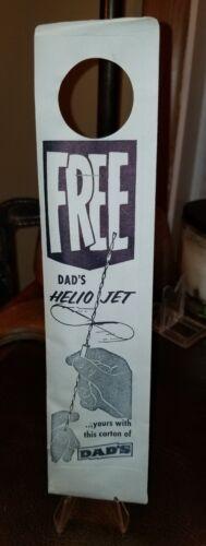 Bottle Topper Metal Tin Toy Premium Helio Jet 1950/'s Dad/'s Root Beer