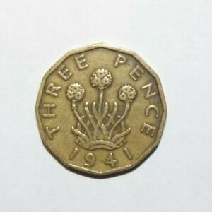 1941 british threepence coin value
