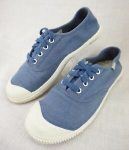 KEEN-Coronado-Canvas-Blue-Vegan-Vulcanized-Sneaker-Lace-Up-Shoes-Women-039-s-8-5