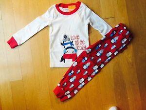 0c5c03797 NWT Gymboree Penguin Love to Be Cozy Pajamas PJs Gymmies 2PC 12-18 M ...