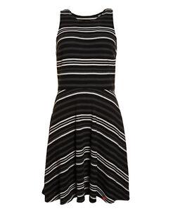 Womens Fit Racer Flare Superdry Stripe Triple Secondo Factory Dress New Mono 4PBOTdqT