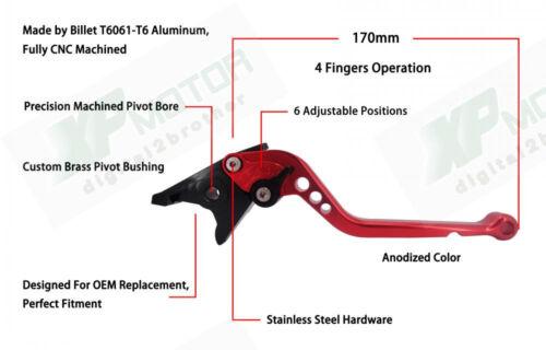 Adjustable CNC Long Brake Clutch Levers Suzuki GSX-R1000 2001-2004 K1 K2 K3 K4