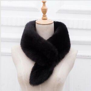 Fashion Ladies Faux Fur Fluffy Scarf Winter Warm Collar Neck Shawl Accessories