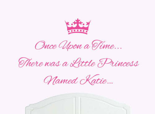 Once Upon a Time Princess Katie Wall Sticker Decal Bed Room Art Girl//Baby