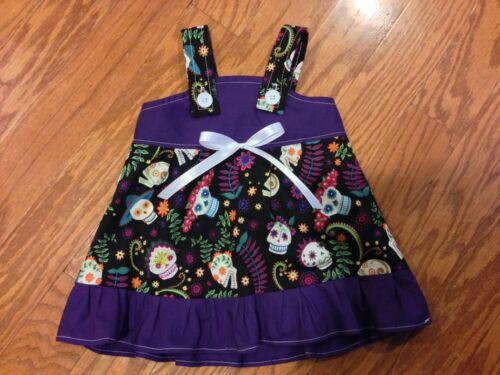 You Pick Size * Sugar Skulls Purple Baby Infant Toddler Girls Dress