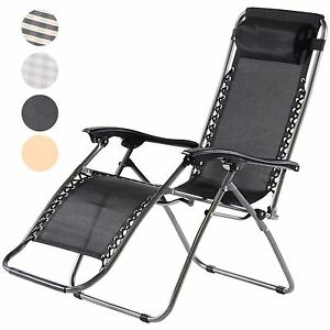Image is loading Zero-Gravity-Sun-Lounger-Deluxe-Textoline-Reclining-Garden-  sc 1 st  eBay : reclining sun lounger - islam-shia.org