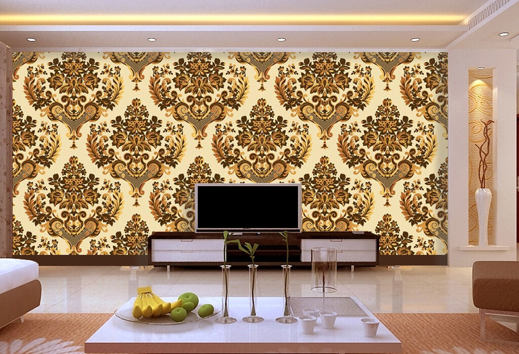 3D floral print Wall Paper wall Print Decal Wall Deco Indoor wall Mural