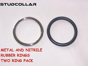 Health & Beauty Hearty Studcollar-metal/nitrile-rubber Glans Rings Double Pack And In Two Sizes