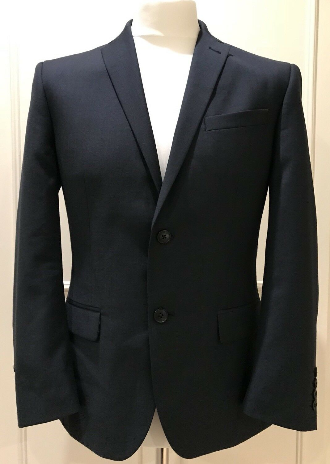 MENS TAILORED FIT blueE BLAZER BY RACING GREEN SIZE 38 SHORT