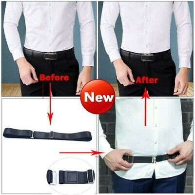 UK 5 Styles Men Near Shirt-Stay Best Shirt Stays Black Tuck It Belt Shirt Tucked