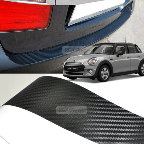 Carbon Rear Bumper Protector Decal Sticker Cover for BMW 2006-2014 Mini Cooper