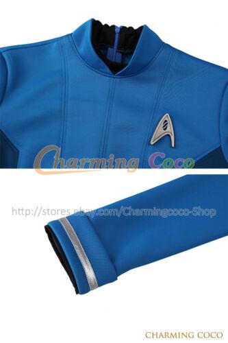 Star Trek Beyond Doctor Carol Marcus Cosplay Costume Halloween Adult Blue Dress