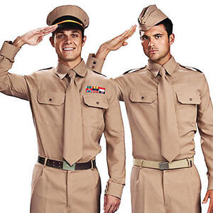 army costumes mens 1940s military uniform adults gi armed forces