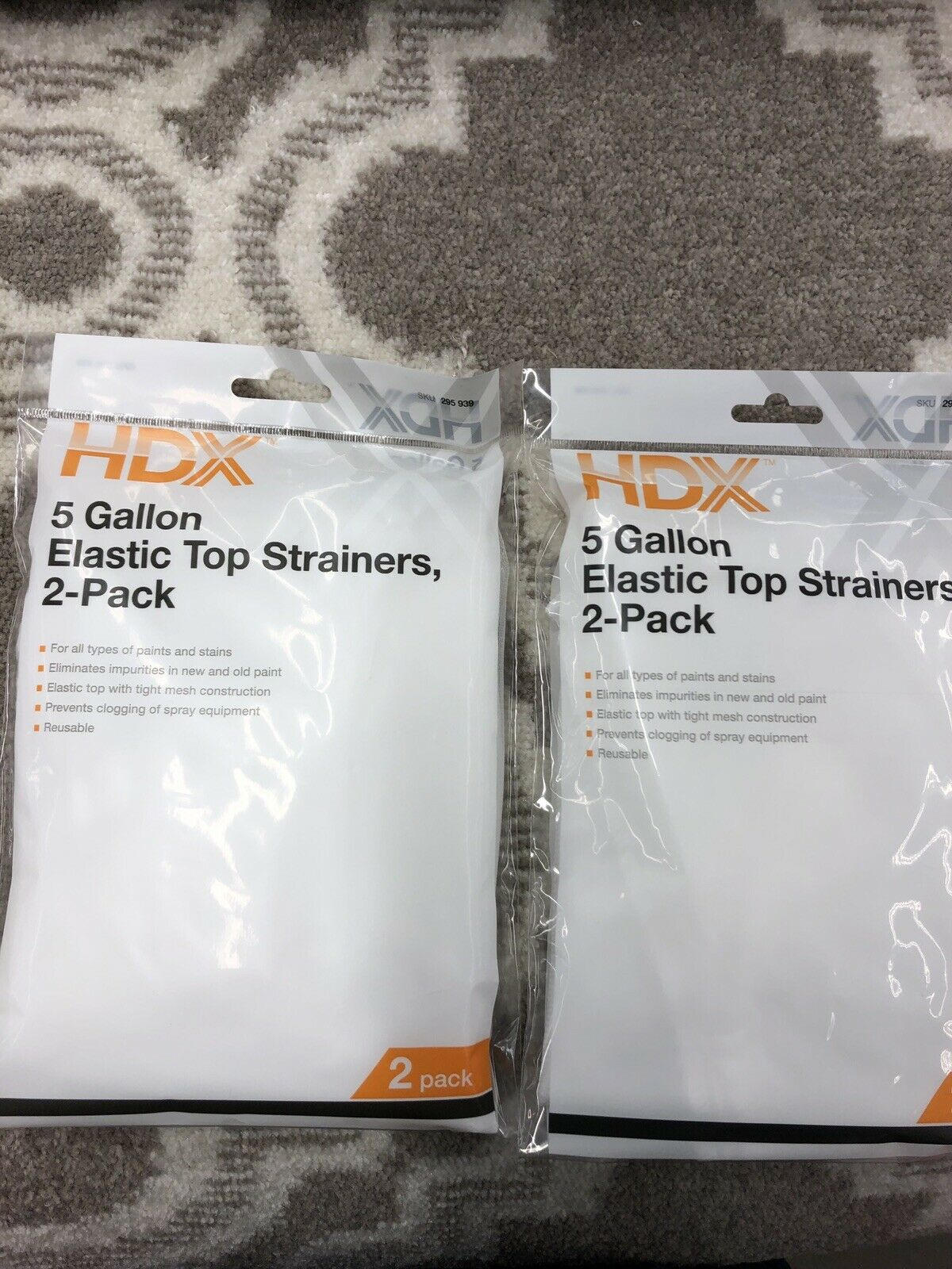 Hdx 5 Gallon Elastic Top Strainers 2 Pack Set Of 2 Ebay