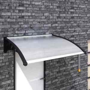 Details About Marquesina Toldo Techo Para Puerta De Entrada Terraza Policarbonato 150 X 100 Cm