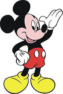Mickey-Mouse-Large-24-T-shirt-Iron-on-Transfer-8x10-5x6-3x3-light-fabric