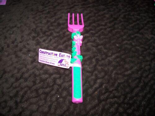 Kids CONSTRUCTIVE EATING Pink Garden Fork Utensil