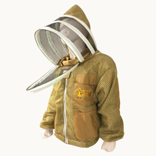 Beekeeping Ventilated Suit and Jacket Protection Beekeeper Bee Suit round veil