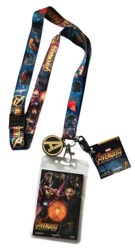 Avengers Infinity War Lanyard Keychain ID Holder Screen Cleaner